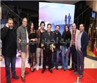 صور| مغاوري والتهامي ويسرا المسعودي يحتفلون بعرض «عمر خريستو»