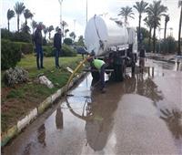 أمطار غزيرة على دمياط وتوقف حركة الصيد ببوغاز عزبة البرج