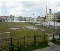 فيديو| الأمطار تغرق إستاد رأس البر وإلغاء مباراة دمياط والنصر