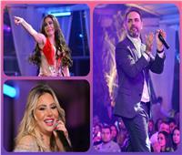 صور| وائل جسار ودينا يشعلان حفل الكريسماس في القاهرة