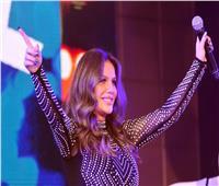 نيكول سابا تحتفل بالعام الجديد في «كايروفيستفال مول»