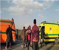 إصابة ١٥ شخصًا في حادث تصادم بطريق الإسماعيلية