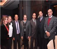 صور| طارق عبد العزيز ونادية مصطفى ويونس في حفل أحد المشروعات