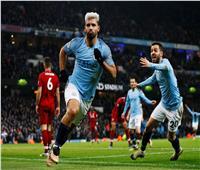 فيديو  أجويرو يسجل هدف التقدم لمانشستر سيتي في ليفربول