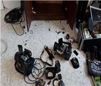 صور| مجهولون يقتحمون مقر تلفزيون فلسطين في غزة