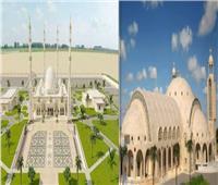 صور| أنوار «الفتاح العليم » و«الكاتدرائية» يضيئان العاصمة الإدارية في ليلة الميلاد