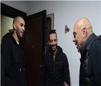 جلسة تعارف بين المغربي خالد بوطيب والجهاز الفني للزمالك