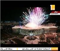فيديو| الألعاب النارية تزين سماء العاصمة الإدارية تزامنًا مع افتتاح الكاتدرائية