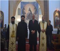 محافظ البحر الأحمر يهنئ الأقباط بعيد الميلاد المجيد من الكنيسة الكاثوليكية بالجونة