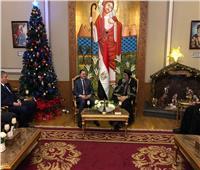 وزير الداخلية يزور البابا تواضروس لتهنئته بعيد الميلاد