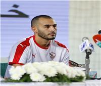 المغربي خالد بوطيب ينتظم فى مران الزمالك