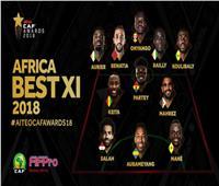 صلاح وماني ومحرز ضمن التشكيلة المثالية في إفريقيا لعام 2018