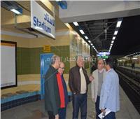 صور| رئيس المترو يتفقد محطات «مترو مصر الجديدة»