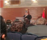 بدء خطاب وزير الخارجية الأمريكي مايك بومبيو بالقاهرة