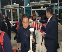 صور| مطار القاهرة يستقبل أولى رحلات الخطوط الكورية