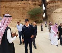 صور| عمر خيرت يقوم بجولة بالمناطق الأثرية في محافظة العلا