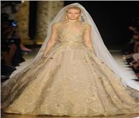 الفساتين الذهبية والرمادية موضة زفاف 2019