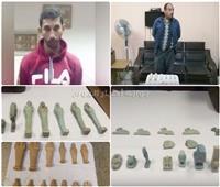 فيديو  مباحث الآثار تضبط 41 قطعة أثرية