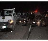 وفاة 5 وإصابة 2 آخرين في حادث تصادم أعلى دائري الوراق