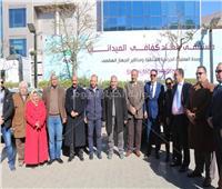 صور| مستشفى سعاد كفافي الجامعي تشارك في مبادرة «حياة كريمة»
