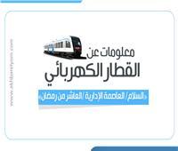 إنفوجراف| معلومات عن القطار الكهربائي الجديد بالعاصمة الإدارية