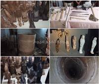 فيديو| الداخلية تضبط 21 قطعة أثرية ترجع للعصر الفرعون في منزل بأخميم