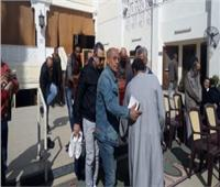 وصول جثمان الفنان الراحل سعيد عبد الغنى لمسجد الصديق