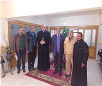 الأنبا «توماس عدلي» يستقبل مجلس رعية العائلة المقدسة للأقباط الكاثوليك
