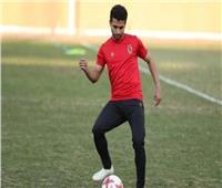 أول صورة للاعب الأهلي «محمد محمود» بعد جراحة الرباط الصليبي