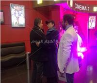 صور| هادي الجيار وإدوارد ومنال سلامة أول الحضور في العرض الخاص لـ«نادي الرجال السري»