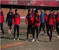 تدريبات استشفائية للاعبي الأهلي في مران اليوم