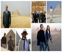 صور  أخرهم الرئيس الفرنسي.. زعماء في أحضان الحضارة الفرعونية