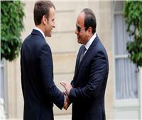 الرئيس الفرنسي يصل القاهرة للقاء السيسي