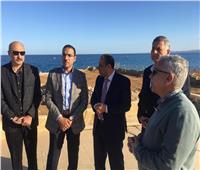 صور| رئيس موانئ البحر الأحمر فى جولة ميدانية بميناء سفاجا