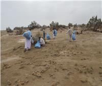وزارة البيئة تنظم حملة نظافة بمحمية وادي الجمال