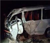 مصرع 7 أشخاص في حادث تصادم بطريق أسيوط