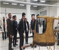جولة لمستشار رئيس الوزارء الياباني والوفد المرافق له في المتحف المصري الكبير