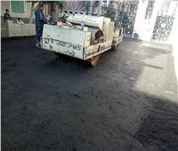 استكمال أعمال الرصف لتطوير وتجميل قرى ديروط بأسيوط
