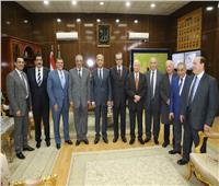 محافظ المنوفية يستقبل الوزراء احتفالا بيوم الوفاء والجزاء
