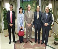 محافظ جنوب سيناء يلتقي رئيس اتحاد الشركات اليابانية