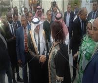 وصول وزيرة الثقافة لافتتاح المهرجان الثقافي الفني الأول لمنظمة التعاون الاسلامي