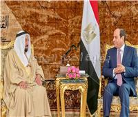 السيسي لحاكم الشارقة: نعتز بمبادرات وجهود «الإمارات» الداعمة لمصر