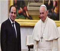 «بابا الفاتيكان» يرسل برقية للرئيس السيسي