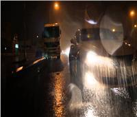 هطول أمطار متوسطة على عدة مناطق بالقاهرة والجيزة