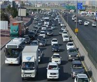 فيديو  كثافات مرورية عالية في معظم طرق ومحاور القاهرة