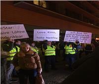 بالصور.. وقفة احتجاجية للعاملين بالسينمات في برلين