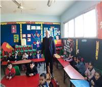 مدير تعليم القاهرة يتفقد مدارس إدارة حلوان التعليمية