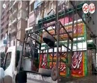فيديو| حملة مكبرة لتطهير عشوائيات الحي العاشر بمدينة نصر