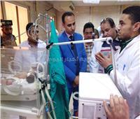 تشغيل أول جهاز تنفس صناعي للأطفال بمستشفى سوهاج العام