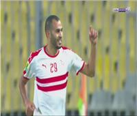فيديو  خالد بوطيب يسجل هدف التقدم للزمالك في نصر حسين داي